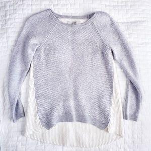LOFT Gray Sweater Beige in the back M